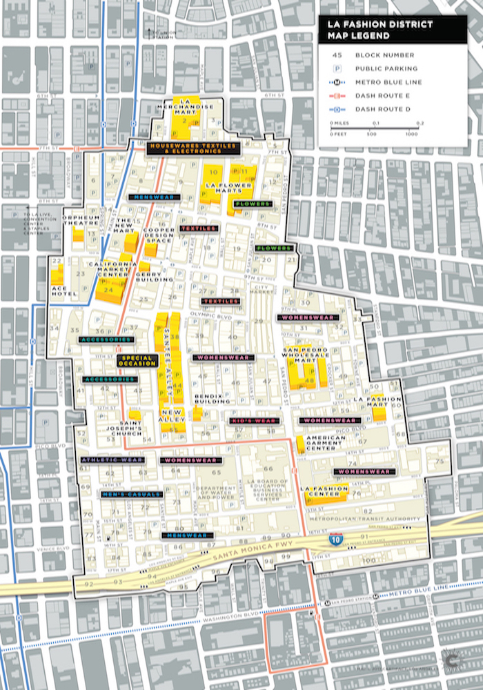 tale of two ctions of the fashion district districts of la